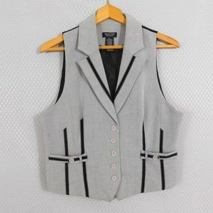 Spense Vest in Grey and Black - Petite Large